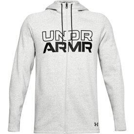 アンダーアーマー メンズ シャツ トップス Under Armour Men's Baseline Full-Zip Hoodie ModGrayHeather/Black