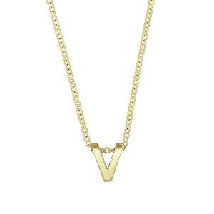 ボニー レヴィ レディース ネックレス・チョーカー・ペンダントトップ アクセサリー Initial Pendant Necklace Yellow Gold- V