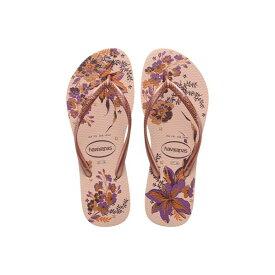 ハワイアナス レディース サンダル シューズ Slim Organic Flip Flops Ballet Rose/Pink Retro Metallic