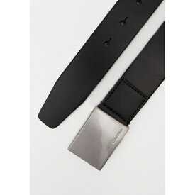 カルバンクライン メンズ ベルト アクセサリー FORMAL PLAQUE BELT - Belt - black muhy00d0