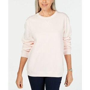 ケレンスコット レディース カットソー トップス Fleece Sweatshirt, Created for Macy's Blush