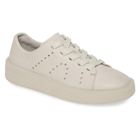 カンペール レディース スニーカー シューズ Camper Courb Perforated Low Top Sneaker (Women) Beige Leather
