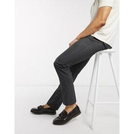 フレンチコネクション メンズ カジュアルパンツ ボトムス French Connection smart pants in skinny fit Charcoal mel