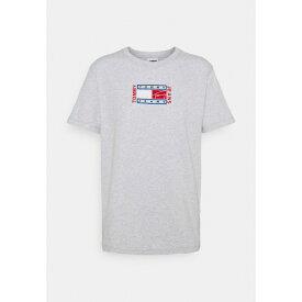 トミーヒルフィガー レディース Tシャツ トップス RELAXED TIMELESS FLAG TEE - Print T-shirt - silver grey heather mygp025f