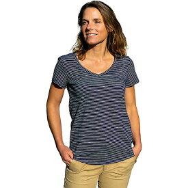 トードアンドコー レディース カットソー トップス Toad & Co Women's Marley S/S Tee Deep Navy Mini Stripe