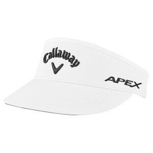 キャラウェイ メンズ 帽子 アクセサリー Callaway High Crown Golf Visor White