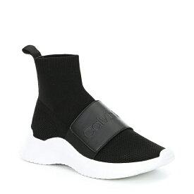 カルバンクライン レディース スニーカー シューズ Uni Stretch Knit Sneakers Black