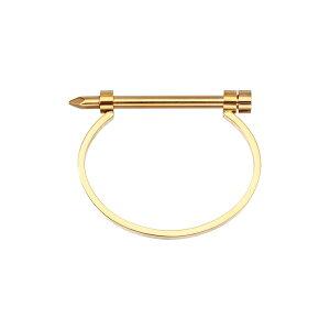 アイキャンデー メンズ ブレスレット・バングル・アンクレット アクセサリー Liam Titanium Screw Cuff Bracelet Gold
