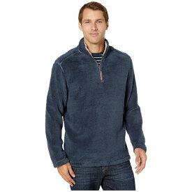 トゥルーグリット メンズ コート アウター Pebble Pile 1/4 Zip Pullover Vintage Denim