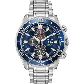 シチズン レディース 腕時計 アクセサリー Eco-Drive Men's Chronograph Promaster Diver Stainless Steel Bracelet Watch 46mm Silver