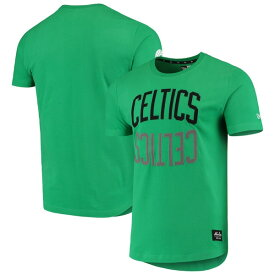 ニューエラ メンズ Tシャツ トップス Boston Celtics New Era Brushed Jersey Wordmark Reflection Applique T-Shirt Kelly Green