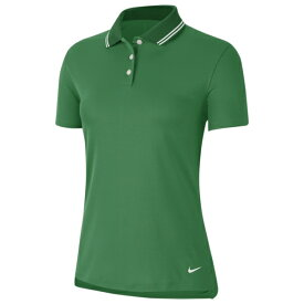 ナイキ レディース ポロシャツ トップス Dry Victory Solid Golf Polo Classic Green/White/White