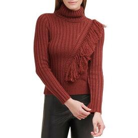 ダナ キャラン ニューヨーク レディース ニット&セーター アウター Fringed Turtleneck Sweater Whiskey Sour