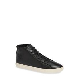 クラエ メンズ スニーカー シューズ Bradley Mid-Top Sneaker BLK MILL TUMB LTHR