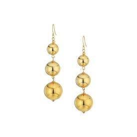 ケネスジェイレーン レディース ピアス&イヤリング アクセサリー Polished Gold 3 Small To Large Bead Drop Fishhook Top Ear Earrings Polished Gold
