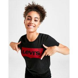 リーバイス レディース Tシャツ トップス Levis Batwing T-Shirt black
