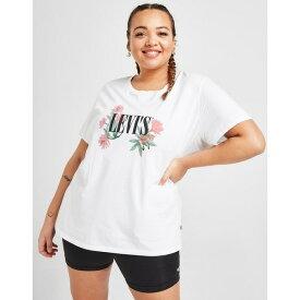 リーバイス レディース Tシャツ トップス Levis Cactus Serif Plus Size T-Shirt white