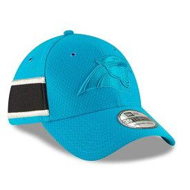 ニューエラ メンズ 帽子 アクセサリー Carolina Panthers New Era 2018 NFL Sideline Color Rush Official 39THIRTY Flex Hat Light Blue