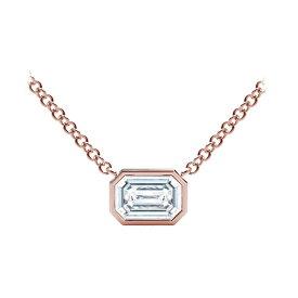 フォーエバーマーク レディース ネックレス・チョーカー・ペンダントトップ アクセサリー Tribute Collection Diamond (1/4 ct. t.w.) Necklace with Mill-Grain in 18k Yellow, White and Rose Gold Rose Gold