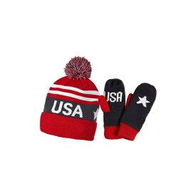 ヘリーハンセン メンズ 帽子 アクセサリー Helly Hansen Going For Gold Knit Cap & Mittens Gift Set Usa Olympian Blue