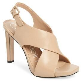 カルバンクライン レディース サンダル シューズ Calvin Klein Myra Cross Strap Sandal (Women) Desert Sand Leather