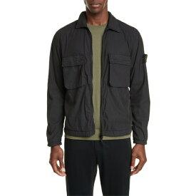 ストーンアイランド メンズ ジャケット&ブルゾン アウター Stone Island Two-Pocket Shirt Jacket Black