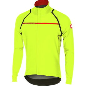 カステリ メンズ サイクリング スポーツ Perfetto Convertible Jacket - Men's Yellow Fluo
