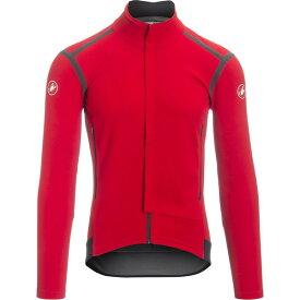 カステリ メンズ サイクリング スポーツ Perfetto Ros Long Sleeve Jersey - Limited Edition Red/Black
