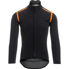 カステリ メンズ サイクリング スポーツ Perfetto Ros Long Sleeve Jersey - Limited Edition Light Black/Orange