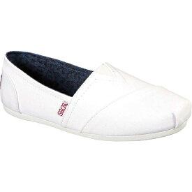 スケッチャーズ レディース スニーカー シューズ Women's Skechers BOBS Plush Peace and Love White/Red/Navy
