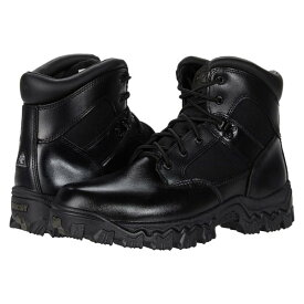 "ロッキー メンズ ブーツ&レインブーツ シューズ Alpha Force Waterproof 6"" Public Service Soft Toe Boot Black"