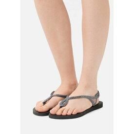 ハワイアナス レディース サンダル シューズ LUNA PREMIUM - Pool shoes - black/dark grey