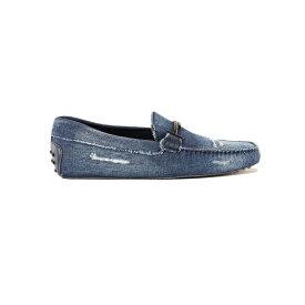 トッズ メンズ スリッポン・ローファー シューズ Tod's Double T Denim Loafers EeDarkJeans