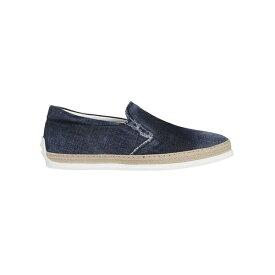 トッズ メンズ スニーカー シューズ Tod's Denim Slip-on Sneakers Blue
