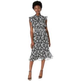 ラルフローレン レディース ワンピース トップス Petite Floral Georgette Dress Polo Black/Silk White