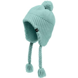 ノースフェイス メンズ 帽子 アクセサリー The North Face Girls' Purrl Stitch Earflap Beanie WindmillBlue