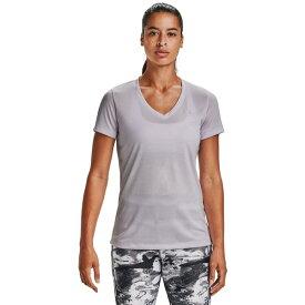 アンダーアーマー レディース シャツ トップス Under Armour Women's Twisted Tech V-neck T-shirt Purple Light 05