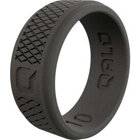 キューエーエルオー メンズ リング アクセサリー QALO Men's Dark Grey Step Edge Crosshatch Q2X Silicone Ring DarkGrey