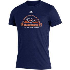 アディダス メンズ Tシャツ トップス adidas Men's University of Texas at San Antonio Team Arch Blend T-shirt Navy