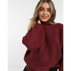 スレッドベア レディース ニット&セーター アウター Threadbare veronica high neck sweater Burgundy