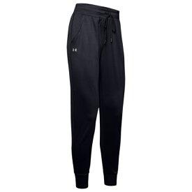 アンダーアーマー レディース フィットネス スポーツ Tech Pants Black/Metallic Silver