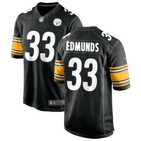 ナイキ メンズ ユニフォーム トップス Pittsburgh Steelers Nike Custom Game Jersey Black