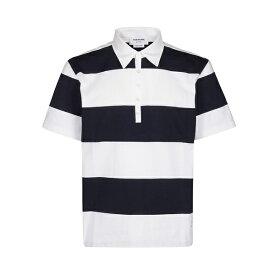 トムブラウン メンズ ポロシャツ トップス Thom Browne Horizontal Stripes Polo Shirt -