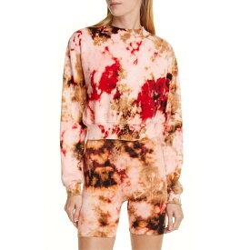 コットンシチズン レディース パーカー・スウェットシャツ アウター COTTON CITIZEN Milan Tie Dye Crop Sweatshirt Cherry Current