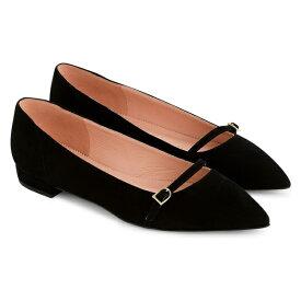 ジェイクルー レディース サンダル シューズ J.Crew Gwen Pieced Mary Jane Suede Ballet Flat (Women) Black Suede