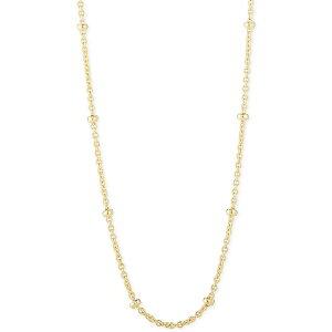 """チャームバー レディース ネックレス・チョーカー・ペンダントトップ アクセサリー Beaded Link Chain Necklace, Adjustable 16"""" - 20"""" Gold"""