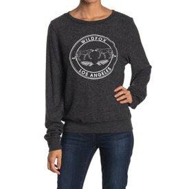 ワイルドフォックス レディース ニット&セーター アウター Logo Brushed Knit Pullover CLEAN BLACK