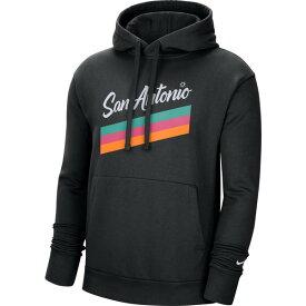 ナイキ メンズ パーカー・スウェットシャツ アウター Nike Men's San Antonio Spurs 2020 City Edition Essential Pullover Fleece Hoodie Black