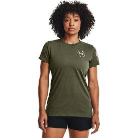 アンダーアーマー レディース Tシャツ トップス Under Armour Women's Freedom Banner T-shirt Green