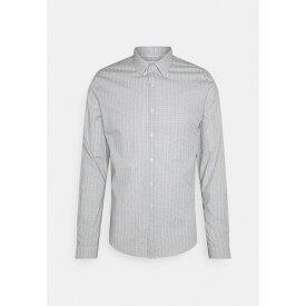 カルバン クライン テイラード メンズ シャツ トップス PRINTED SLIM SHIRT - Formal shirt - black